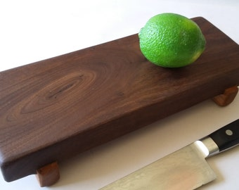 Knotty and Nice BLACK WALNUT small SUSHI Serving board/Bar board