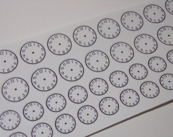 50 Clock Stickers / Perfect for your Erin Condren Life Planner or Filofax / Appointment Stickers / Time Stickers