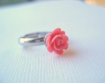 Pink Rose Ring Love Ring Forever