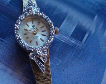 1960's  Croton Diamond Wrist Watch Platinum Crown Like with One Jewel Swiss Parts Quartz Movement Yes is Working  On SaLe Now