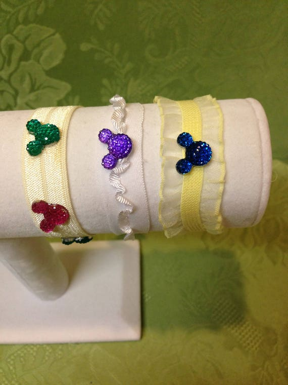 Tinker Bell Gift-Hidden Mickey Bracelets-Minnie Bracelets-Flower Girl-Disney Trip-Disiney Princess Gift