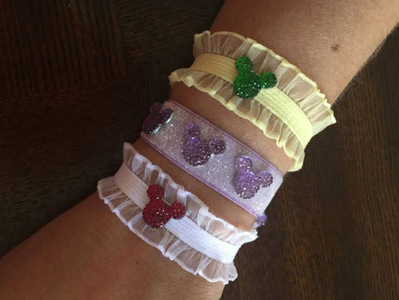 Mickey Minnie Mouse Bracelets Minnie Bracelets Flower Girl Disney Trip Tinker Bell Gift