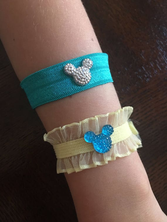 Disney Inspired Bracelet-Mickey Minnie Mouse Bracelets-Flower Girl-Disney Trip-Tinker Bell Gift
