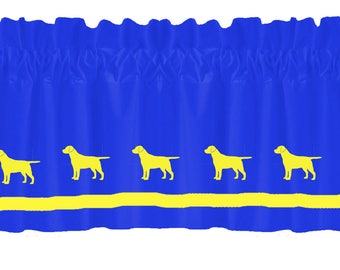 Labrador Retriever (Yellow Lab) Window Valance Curtain - Your Choice of Colors