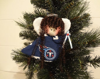 Tennessee Titans fabric angel ornament #1