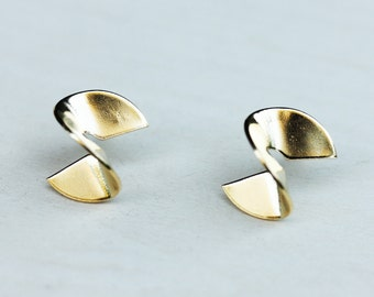 Twist Studs - Silver or Gold Plated