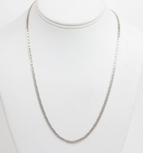 Sterling Silver Mariner Chain Necklace Italian Silver Unisex 20 Inch Necklace