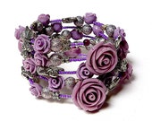 FOLLOW your NOSE to the ROSE coil Beaded Bracelet by Beading Divas Fundraiser