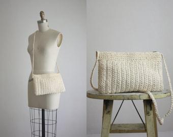 woven straw ivory handbag