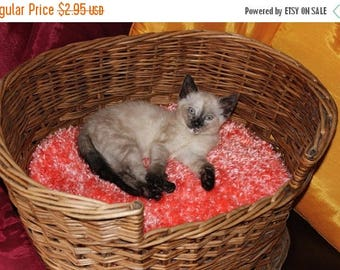 50% OFF SALE Instant Digital File pdf download Knitting pattern-Cat Basket Fluffy Cushion (Pillow) pdf download knitting pattern