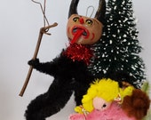 Vintage Style Naughty Folk Art Christmas Holiday Krampus Ornament