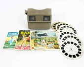 Vintage View-master in Grey with Reels. Circa 1960's.