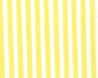 Michael Miller Fabric Clown Stripe Yellow, Choose your cut
