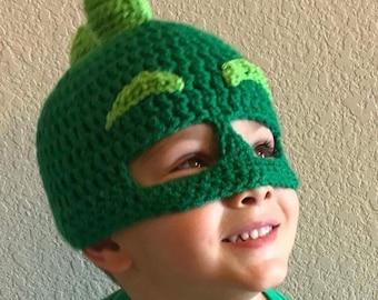 Green Gekko Crochet Mask