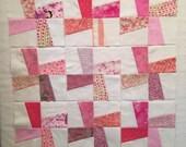 Windmill Pieced Quilt Blocks in Scrappy Pink