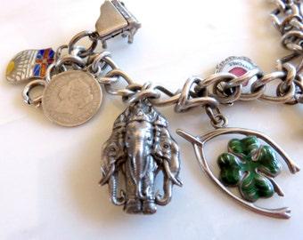 Circa 1959 Sterling Silver Charm Bracelet