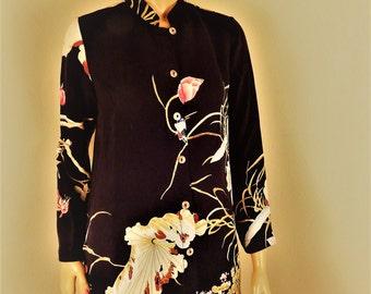 citron silk blouse