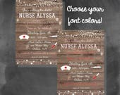 ON SALE Digital Rustic Wooden Nurse Graduation Party Invitation You Print Printable - Any Font Colors