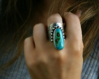 RESERVED - A Piece of Heaven - Turquoise Sterling Silver Ring