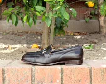 Made in Italy - Brown Leather Loafers - Ann Taylor ( Sz 6.5, Eu 37)