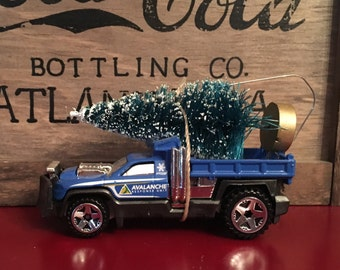 Snow Plow Carrying Christmas Tree Ornament