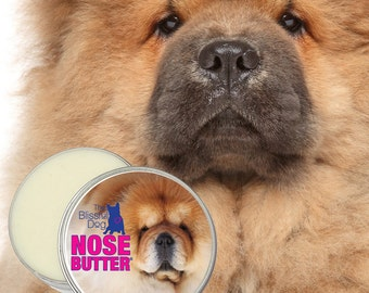 Chow NOSE BUTTER® Handcrafted All Natural Moisturizing Balm for Dry Crusty Dog Noses - Choice of 1 oz, 2 oz or 4 oz Tin with Chow Label
