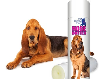 Bloodhound NOSE BUTTER®All Natural Handcrafted Moisturizing Salve for Dry Crusty Dog Noses .50 oz Tube with Bloodhound on Label in Gift Bag