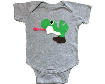 Yoshi - Kids Grey Baby Bodysuit - Children's Clothing - Gift