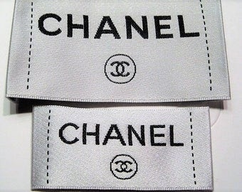 White Chanel CC Clothing Lables - Large or Small