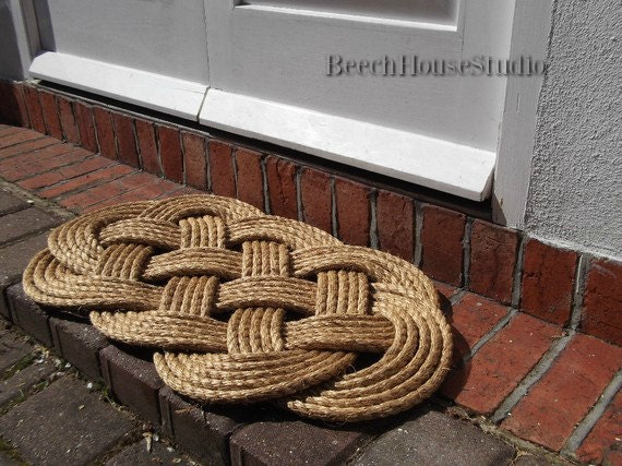 Rope Rug and Rope Welcome Mat, 30' by 19' - Nautical Décor