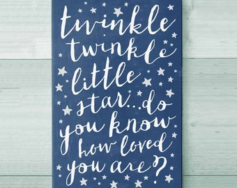 Twinkle Little Star Nursery Wall Sign, Kids Room Sign, Baby Shower Gift, Nursery Room Decor, Baby Room Decor, Baby Boy, Baby Girl, New Baby