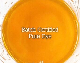 CLEMENTINE Bath Bomb Dye, Batch Certified FD&C Yellow 6, 93% PURE dye, Cosmetic Colorant, 1 oz