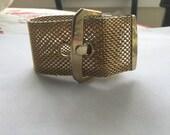 Vintage Wide Mesh Buckle Bracelet