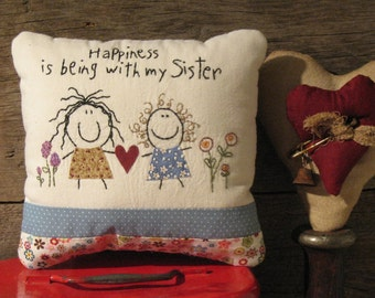 Humorous Pillow Tuck for Sisters