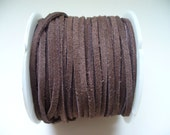 Leather Lace Dark Brown Tejas Lace Company 25 Yards