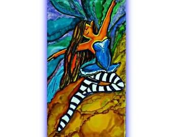 decorative tile decor  | whimsical fairy art | fairy paintings | paintings of fairies | fairy wall hangings | whimsical paintings | fairies