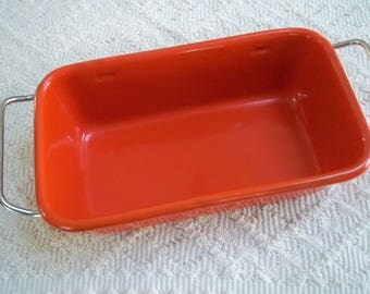 Vintage Kitchen Cookware Enamel Meatloaf Pan