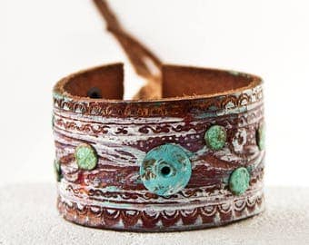Leather Cuff Bracelets For Women