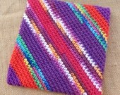 Double Thick Crocheted Potholder  ~  Crocheted Potholder  ~  Thick Crocheted Potholder  ~  Large Double Thick Potholder  ~  Thick Hot Pad