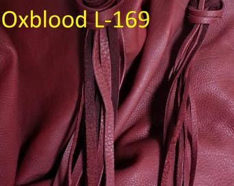 Oxblood Calf Buckskin- Lacing, Half and Full Hides Stock No. L-169