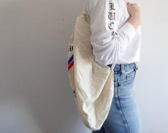 Backpack Vintage Canvas Drawstring Crossbody Bag