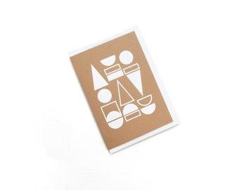 FOIL PRINTED CARD - White on Harvest