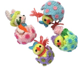 Mini Easter Eggs PDF Email Knit PATTERN