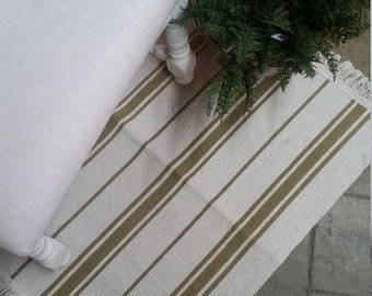 SHOP HOP DEAL Tan French Stripe area rug
