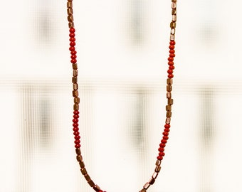 Crimson and Copper Necklace