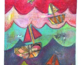 Dream a Little Dream Sailboats Original
