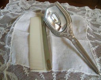 antique child's brush and comb set