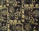 Star Trek Shirt Panel Bowling shirt  Enterprise NCC 1701 Size small to 4XL