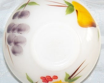 """Vintage Anchor Hocking Fire King Gay Fad Fruit 6"""" Bowl Colonial Kitchen"""