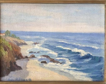 California Painting La Jolla Beach by Ann Palmer